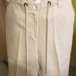 Khaki tan capri length